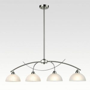 Arched 4-Light Brushed Nickel Kitchen Pendant Lighting