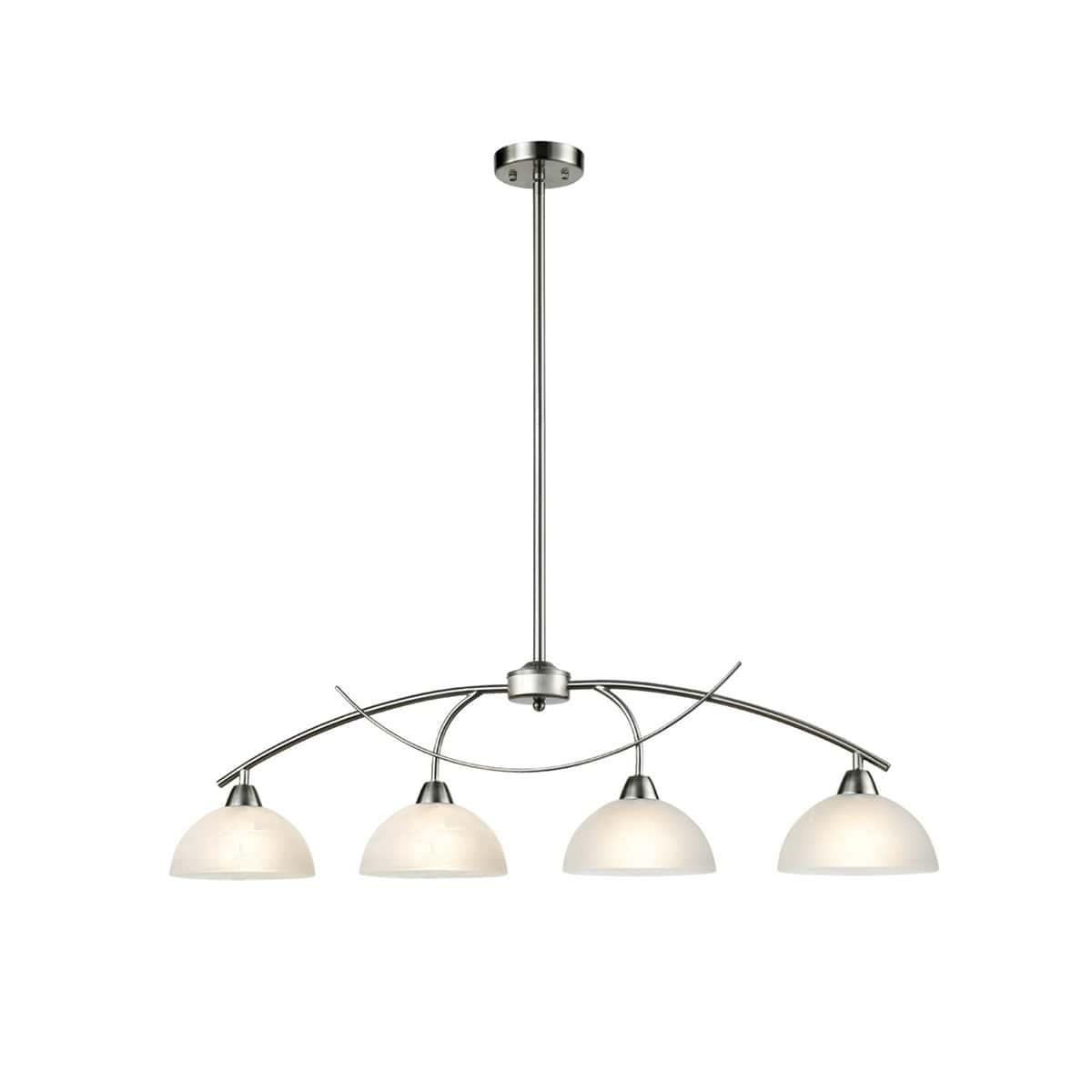 Arched 4-Light Brushed Nickel Kitchen Pendant Lighting