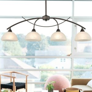 Arched Golden Bronze 4-Light Kitchen Island Pendant Lighting
