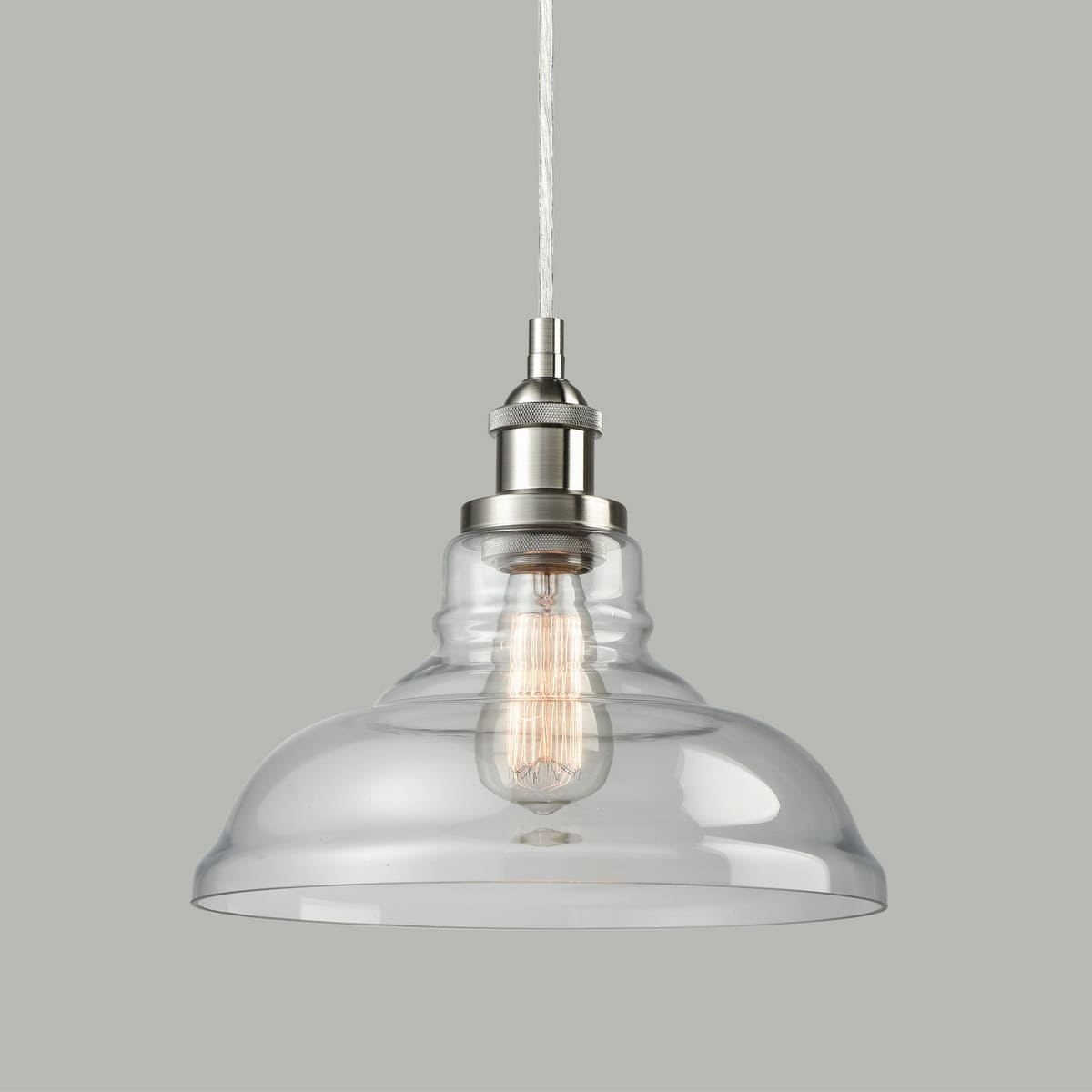 Belajar Brushed Nickel Pendant Lighting Over Kitchen Island
