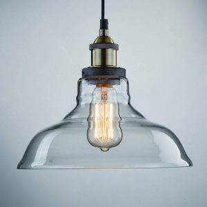 Glass Industrial Kitchen Pendant Lighting Antique Bronze Finish