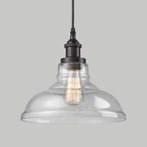 Glass Oil Rubbed Bronze Industrial kitchen island pendant lighting