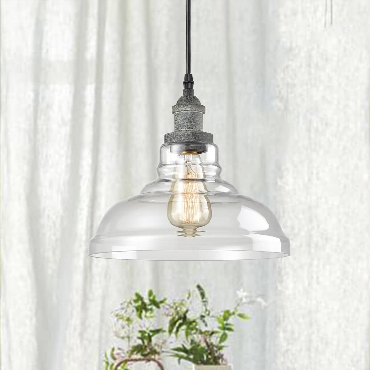 Glass Rustic Mycete kitchen island pendant lighting