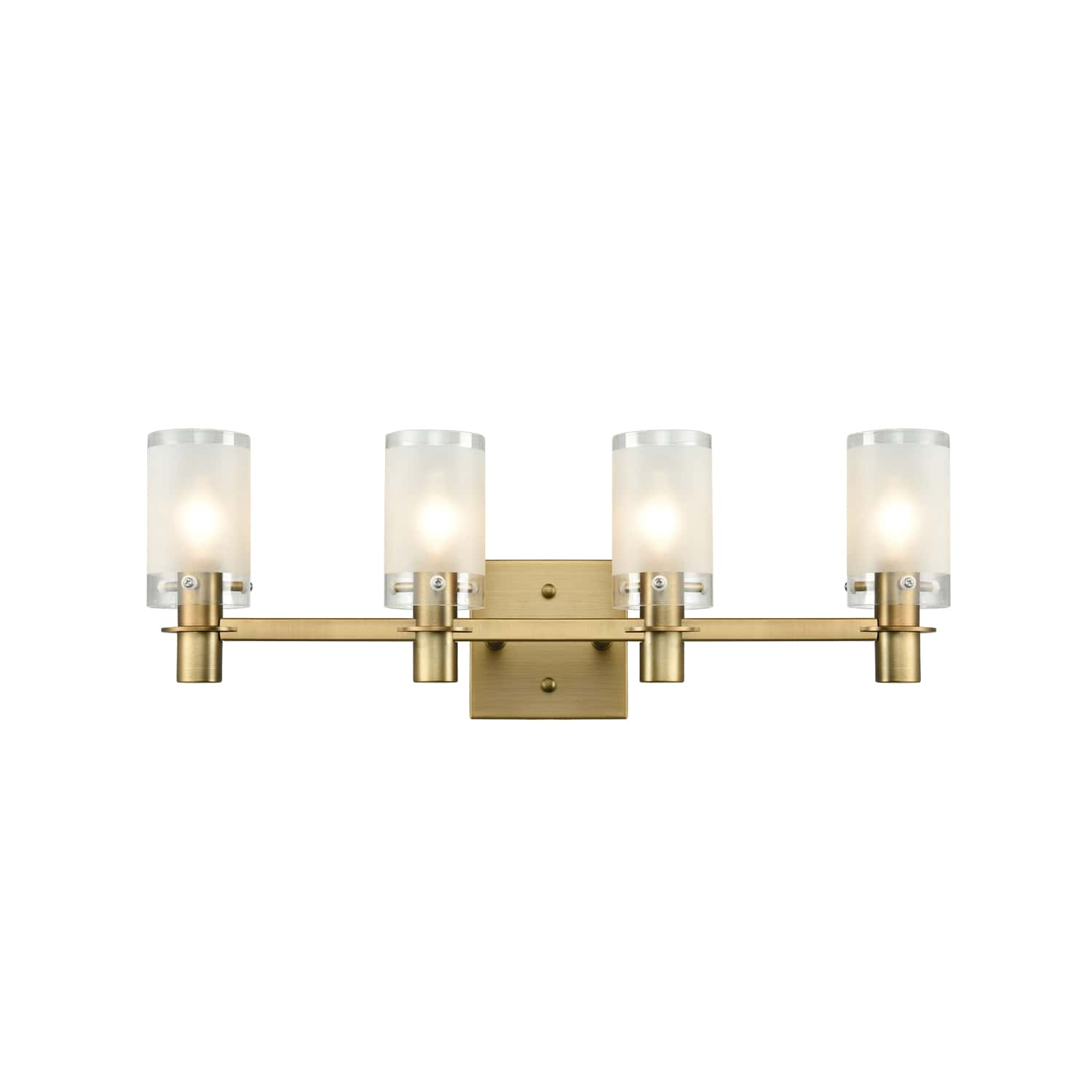 Gold Modern Wall Sconces Lighting Fixture with Frosted Glass Shade