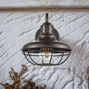 Goose-Neck Rustic Plug-In Wall Sconce Lighting