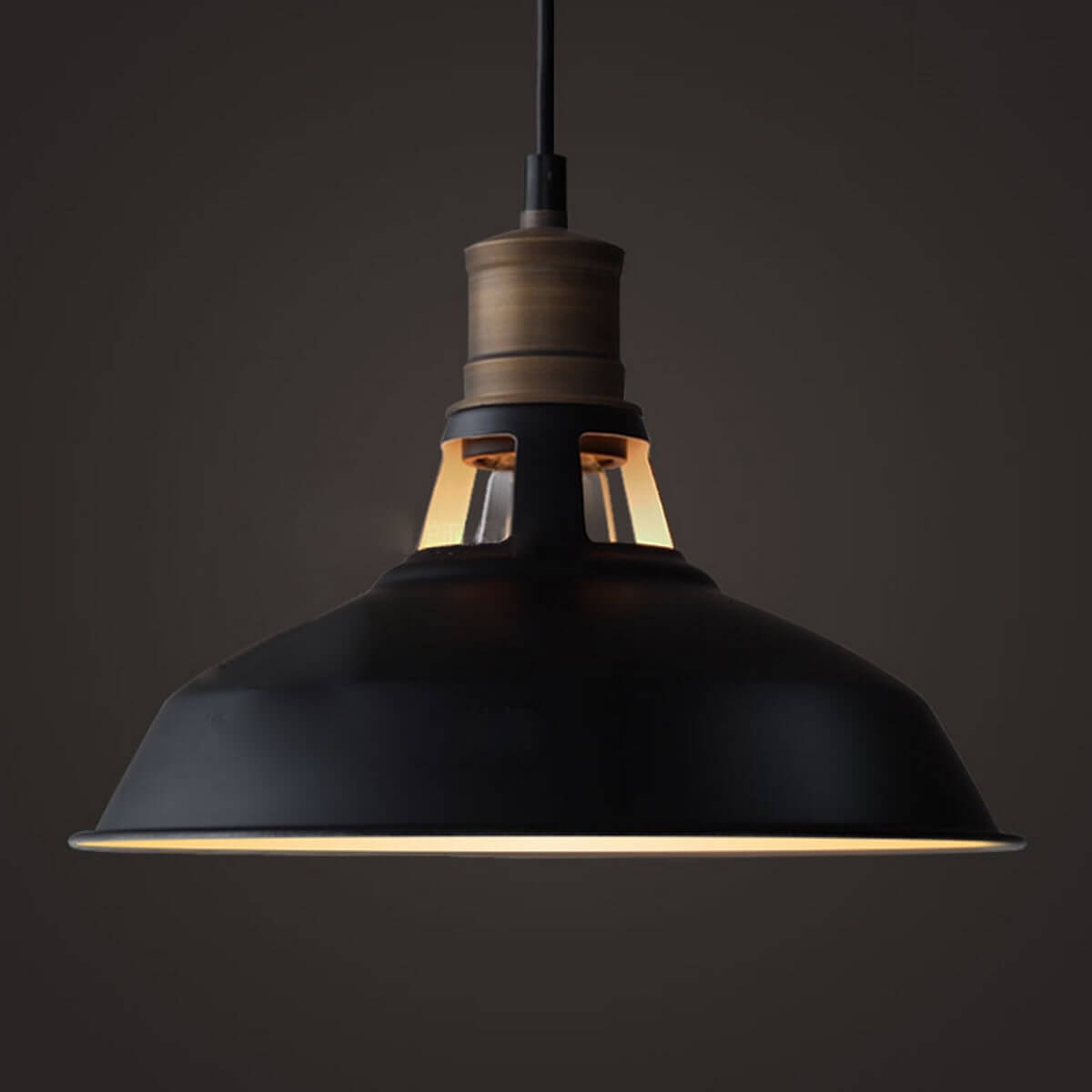 Industrial 1-Light Black Barn Pendant Lighting