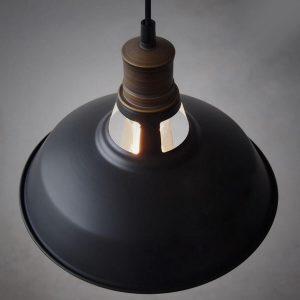 Industrial 1-Light Black Barn Pendant Lighting