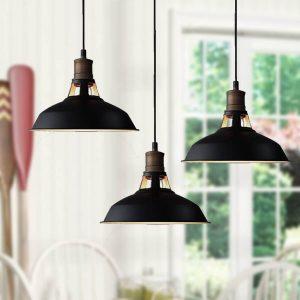 Industrial Black Barn Pendant Lighting Loft Light Fixture 3 Pack