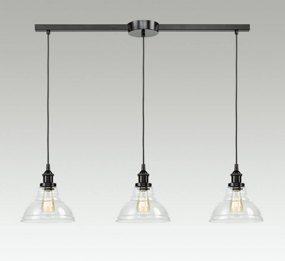 Industrial Clear Glass Kitchen Island Pendant Lighting Fixtures