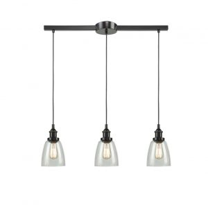 Industrial Glass Bronze Kitchen Island Pendant Lighting