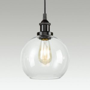 Industrial Globe Glass Kitchen Island Pendant Lighting Fixtures