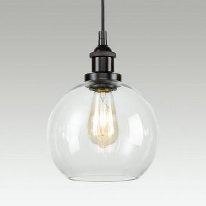 Industrial Globe Glass Kitchen Island Pendant Lighting Fixtures