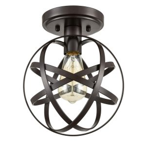 Industrial Metal Globe Flush Mount Kitchen Ceiling Lights Oil Robbed Bronze