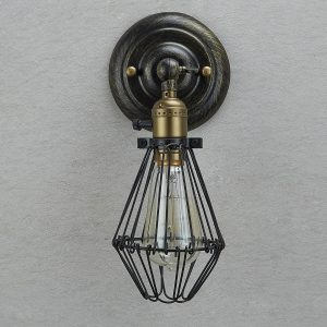 Industrial Opening and Closing Wire Cage Wall Sconce