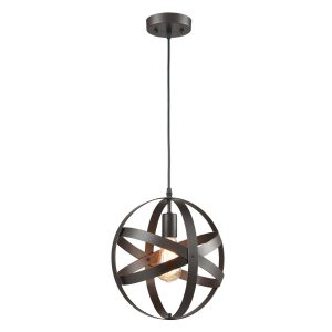 Industrial Globe Pendant Light Bronze Kitchen island Lights
