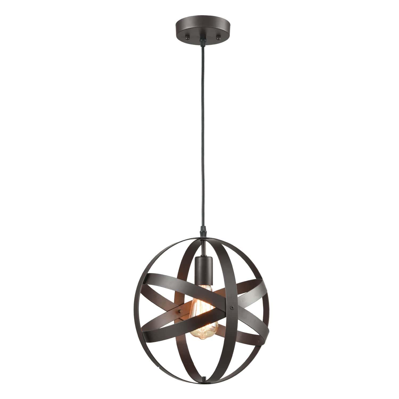 Industrial Pendant Lighting Globe Pendant Light Oil Rubbed Bronze