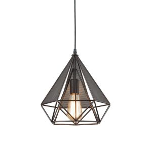 Large Polygon Wire Pendant Light Loft Art Deco Style