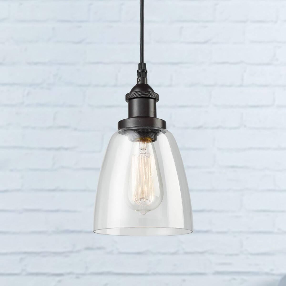 Mini Glass Bell Oil Rubbed Bronze kitchen island pendant lighting