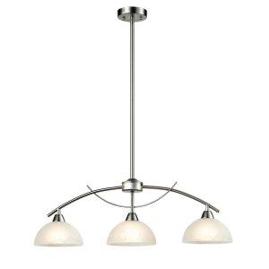 Modern Arched 3-Light Kitchen Pendant Lighting, Brushed Nickel