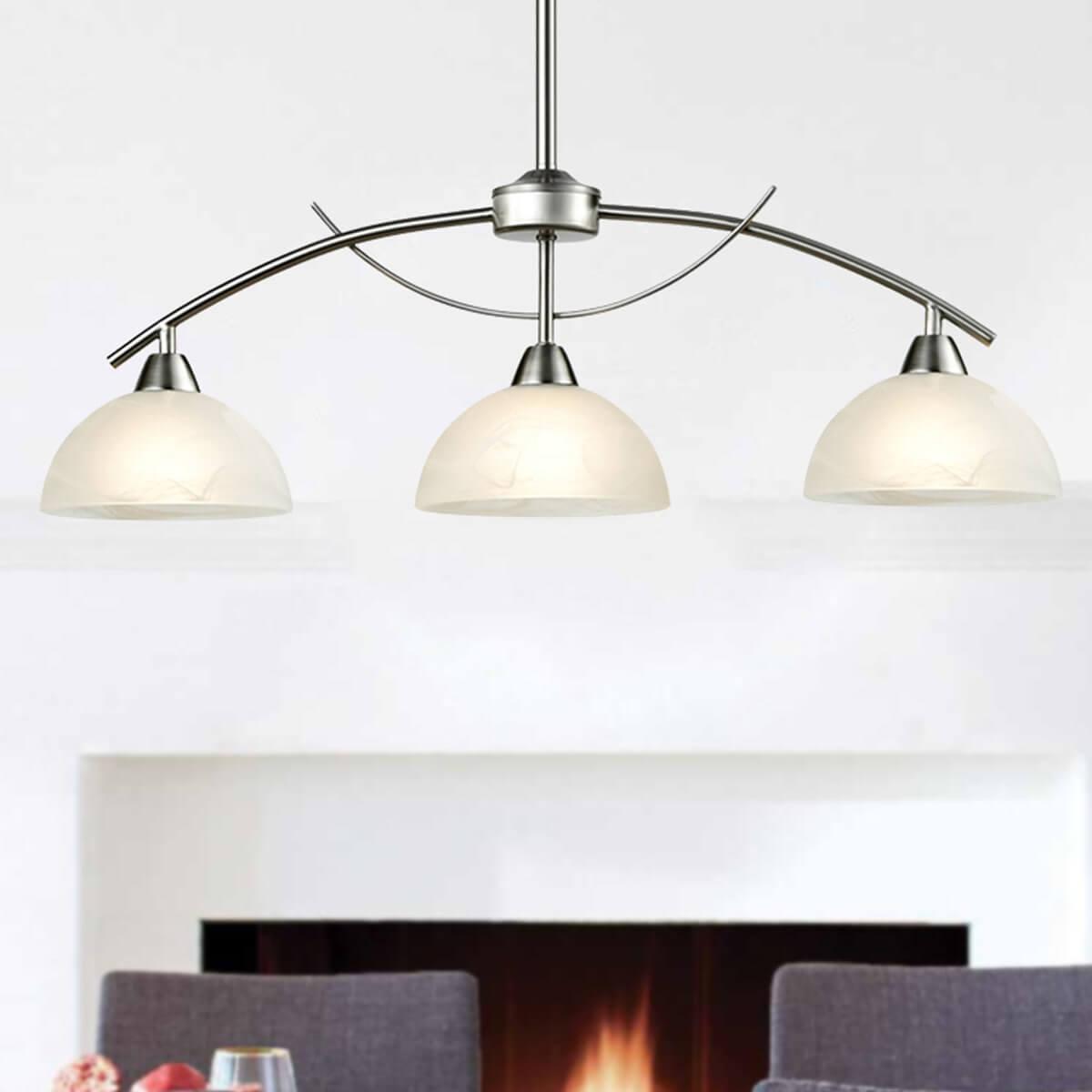 Modern Arched 3-Light Kitchen Pendant Lighting, Brushed Nickel