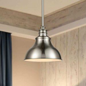 Modern Brushed Nickel Metal Kitchen Pendant Lights