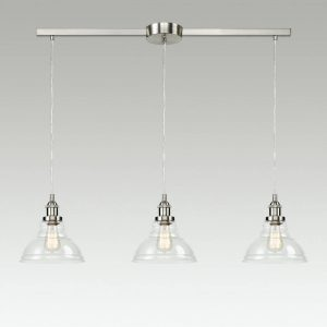 Modern Clear Glass Kitchen Island Pendant Lighting Fixtures
