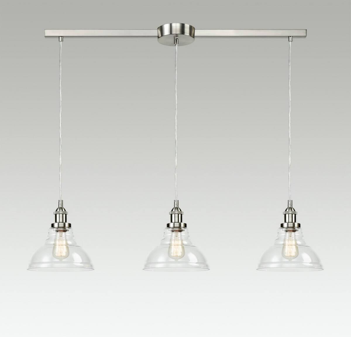 Modern Clear Glass Kitchen Island Pendant Lighting Fixtures
