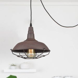 Modern-Farmhouse-Plug-In-Pendant-Light-Rust-Finish