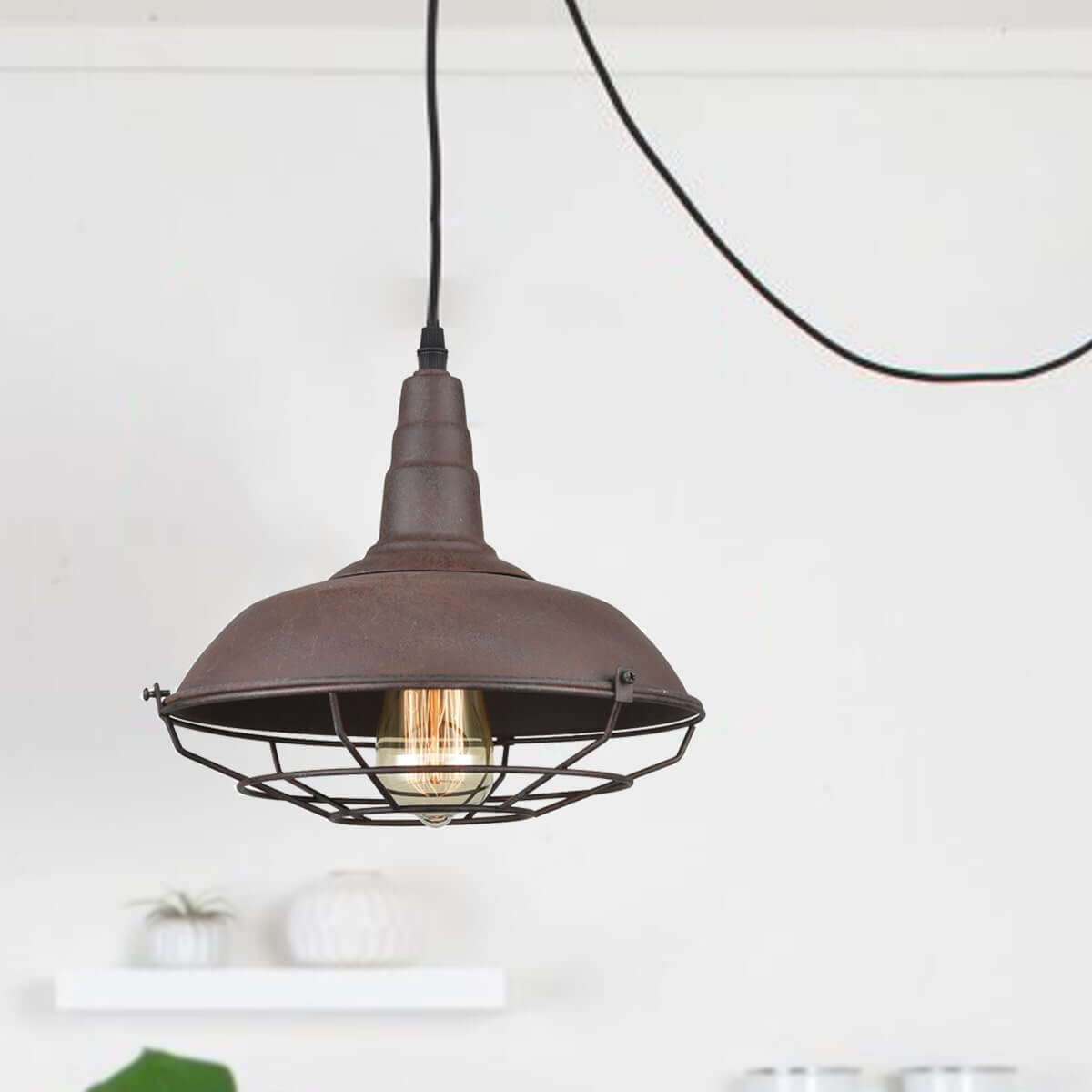 Modern-Farmhouse-Plug-In-Pendant-Light-Rust-Finish