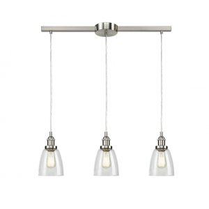 Modern Glass Brushed Nickel Kitchen Island Pendant Lighting