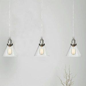 Modern Glass Brushed Nickel Kitchen Island Pendant Lighting Fixtures