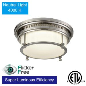 Modern Kitchen Flush Mount LED Ceiling Lights Brushed Nickel