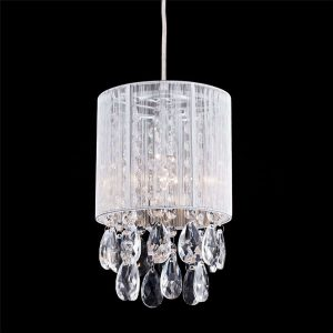 Modern-Silver-String-Drum-Shade-Crystal-Pendant-Lighting
