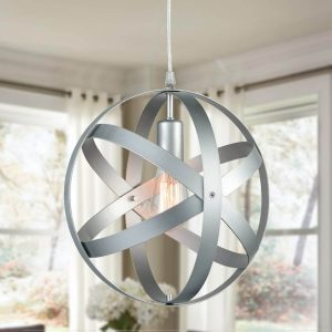 ModernPendant Lighting Globe Pendant Light Silver Gray