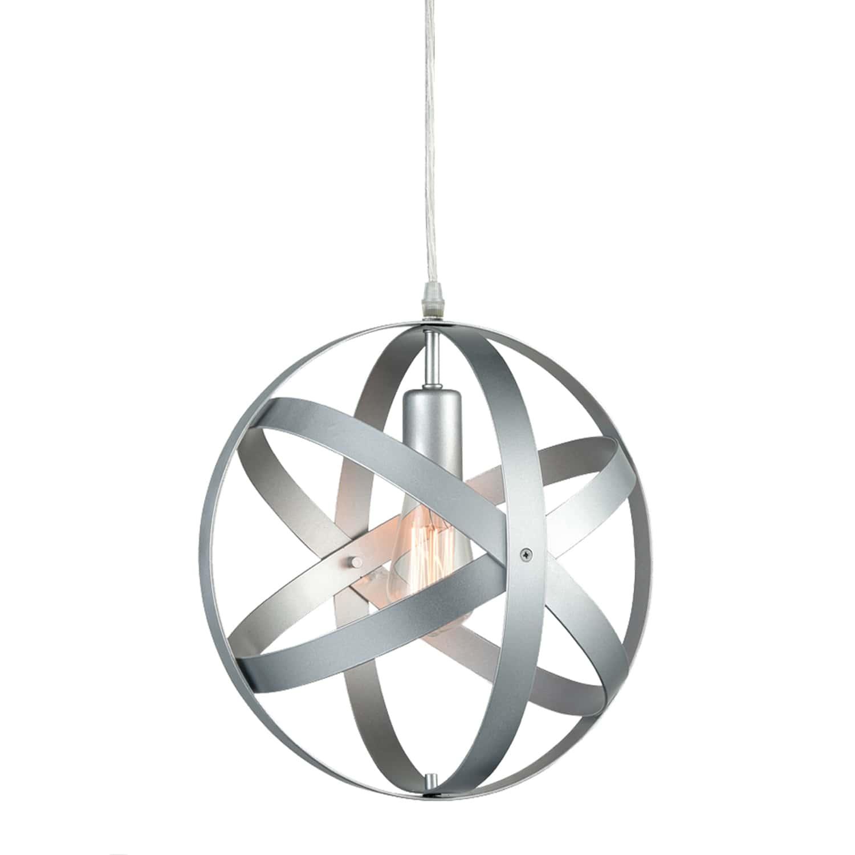 ModernPendant Lighting Globe Pendant Light Silver Gray
