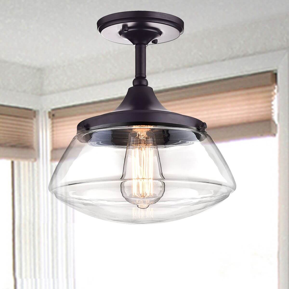 Bronze Semi Flush Mount Ceiling Light