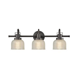 Prismatic Glass 3-Light Bathroom Wall Sconces Vanity Light