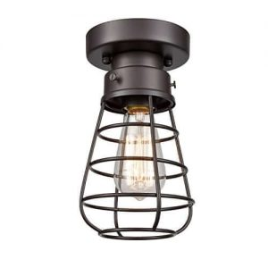 Retro Industrial Ceiling Light Fixtures Loft Barn Cage