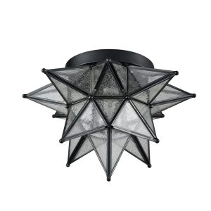 Seeded-Glass-Moravian-Star-Flush-Mount-Ceiling-Light