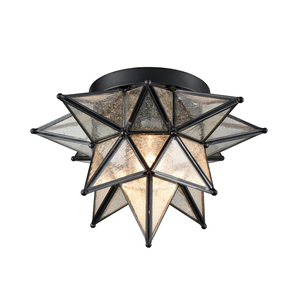 Seeded-Glass-Moravian-Star-Flush-Mount-Ceiling-Light