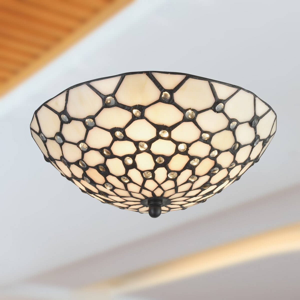 Tiffany Stained Glass Semi Flush Kitchen Ceiling Lights
