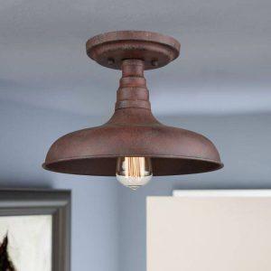 Rustic Industrial Barn Semi flush mount ceiling light