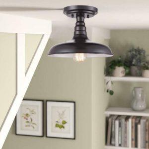 Industrial Oil Rubbed Bronze Semi Flush Mount Ceiling Light