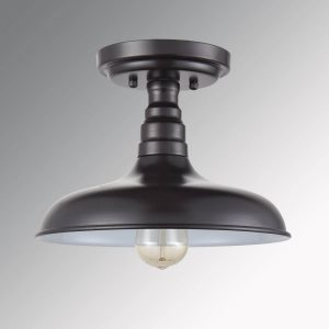 Industrial Oil Rubbed Bronze Semi Flush Mount Ceiling Light