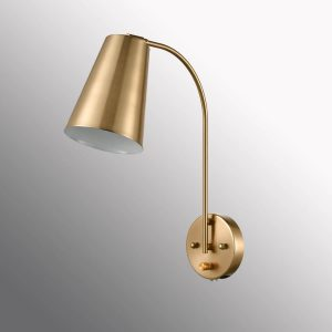 Modern Plug in Wall Sconce with Cord Set of 2 Brass Wall Light