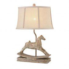 Vintage Distressed Table Lamp Fabric Shade Bedside Desk Lamps for Bedroom, Living Room, Office, Kids Room, Girls Room