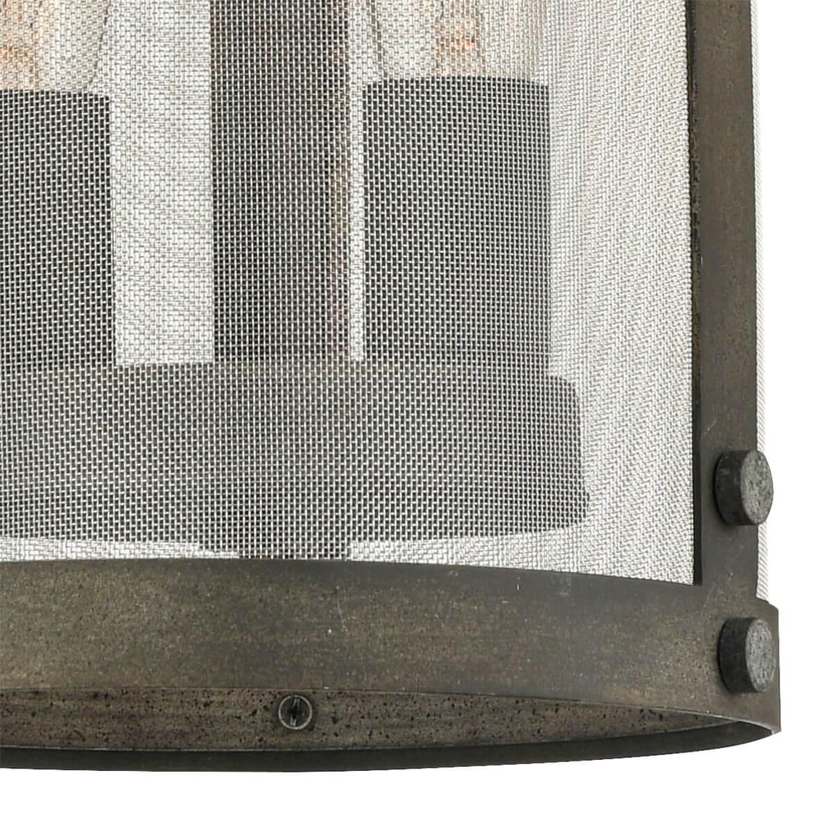 Vintage Metal Mesh Cylinder Pendant Light