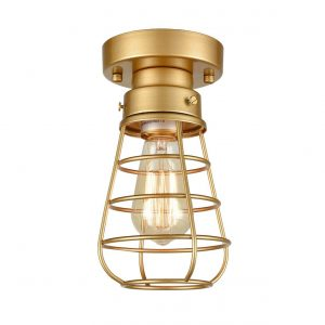 Brass Ceiling Lights Mini Metal Flush Mount Ceiling Lighting