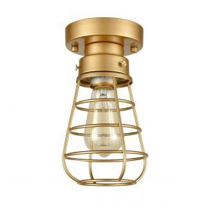 Brass Ceiling Lights Mini Metal Flush Mount Ceiling Lighting