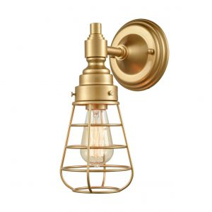 Brass Wire Cage Wall Sconces Adjustable Industrial Wall Sconce 2 Pack